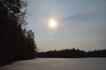 Eftermiddagssol vid Lilla Älgsjön