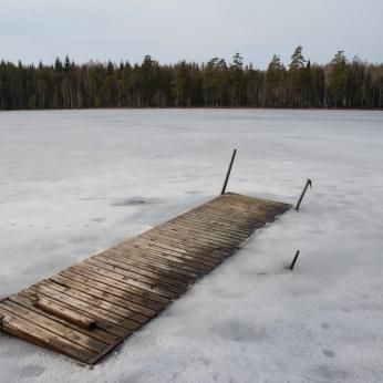 Bryggan vid Lilla Älgsjön