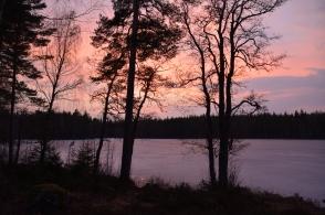 Efter solnedgången vid Lilla Älgsjön