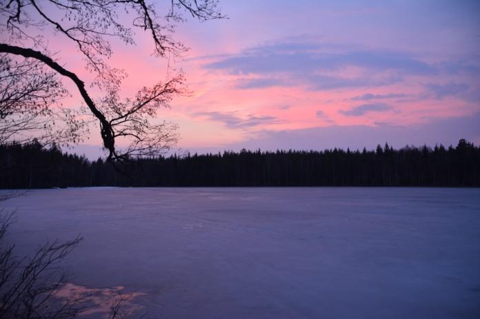 Fantastisk himmel - Lilla Älgsjön
