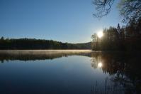 Morgonsol vid Lilla Älgsjön