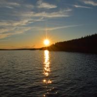 En natt på Kalvön i Åmänningen