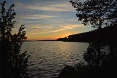 Solnedgång i Åmänningen