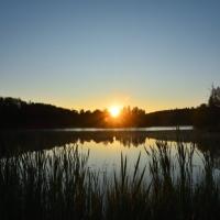 Septembermorgon i dimma och sol