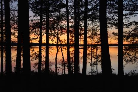 Solen går ner vid Kalvön