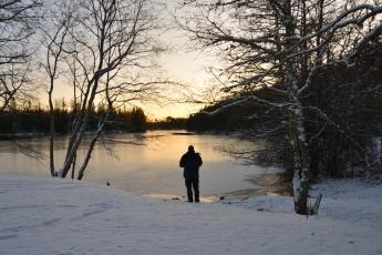 Sjön Stora Kedjen i Trummelsberg