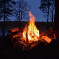 Vandring och utenatt vid Lilla Älgsjön