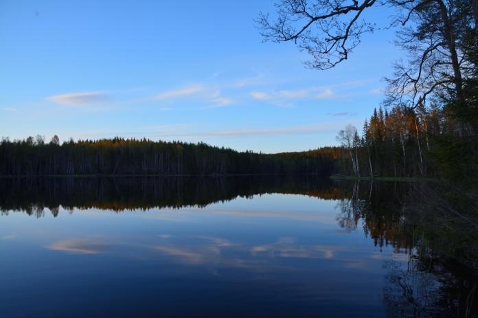 Spegelblankt på Lilla Älgsjön