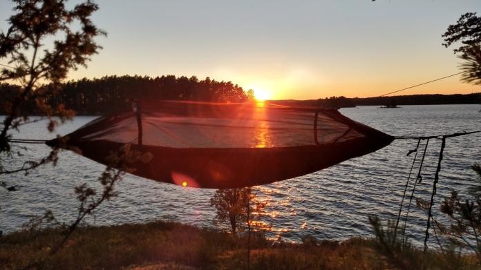 Hammocken i solnedgången