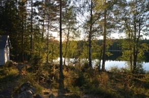 Kvällsstämning vid Lilla Älgsjön