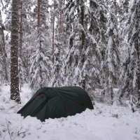 Vintercamping i Fagerstaskogen