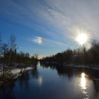 Vintersol och regnbågsfärger