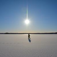 Ispromenader på Stora Aspen